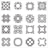 Set hand drawing zentangle decorative frame. Italian majolica style Royalty Free Stock Photo