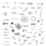 Set of hand-drawn arrows Royalty Free Stock Images