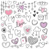 Set of Hand drawn arrows doodle vector illustration