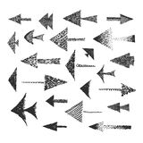 Set of hand drawn arrows Stock Photography