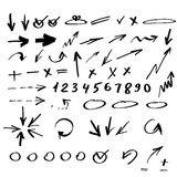 Set of hand drawn arrows. Vector illustration of hand drawn arrows Royalty Free Stock Photography