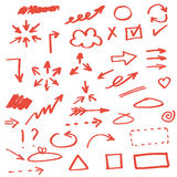 Set of hand drawn arrows Royalty Free Stock Image