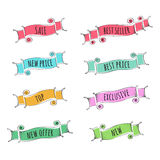 Set of hand drawn banners. For promotion. Vector illustration Stock Photography