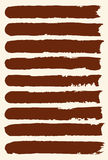 Set of hand drawn brush strokes. Stock Images