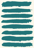 Set of hand drawn brush strokes. Royalty Free Stock Images