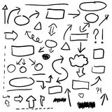 Set of hand drawn business elements,  Stock Photos