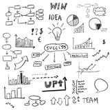 Set of hand drawn business elements,  Royalty Free Stock Photo