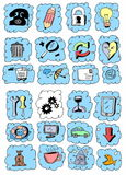 Set hand drawn business objects Royalty Free Stock Photography