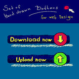 Hand drawn buttons Royalty Free Stock Photography