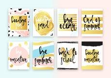Set hand drawn cards design. Stock Photography