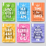 Set of hand drawn, cards, posters Royalty Free Stock Photo