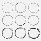 Set Of Hand Drawn Circle Elements, Hand Drawn Sketch. Vector illustration EPS 10 Royalty Free Stock Photos
