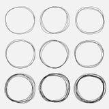 Set Of Hand Drawn Circle Elements, Hand Drawn Sketch. royalty free stock photos