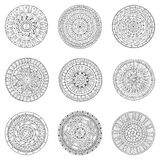 Set of hand drawn circles, vector logo design Royalty Free Stock Images