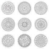 Set of hand drawn circles, vector logo design Royalty Free Stock Images