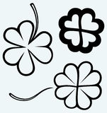 Set of hand drawn clovers. St. Patrick's day Royalty Free Stock Image