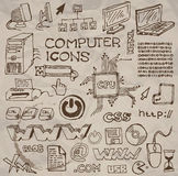 Set of hand-drawn computer icons () vector illustration