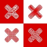 Set of hand drawn crosses Royalty Free Stock Photos