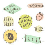 Set of hand drawn cute labels. Royalty Free Stock Photos