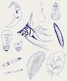 Set of hand-drawn design elements Royalty Free Stock Image