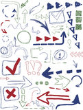 Set of hand drawn design elements Royalty Free Stock Photos