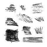Scribble brush strokes set stock illustration