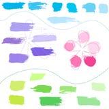 Set of hand drawn colorful design elements royalty free illustration