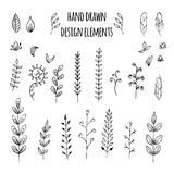 Set of hand drawn design elements. Vector. Illustration for your design Stock Photo