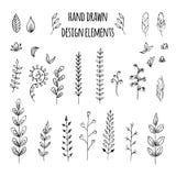 Set of hand drawn design elements. Vector Stock Photo