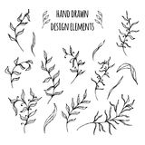 Set of hand drawn design elements. Vector Stock Images