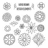 Set of hand drawn design elements. Vector illustration for your design Royalty Free Stock Photo