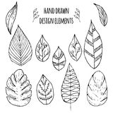 Set of hand drawn design elements Royalty Free Stock Images