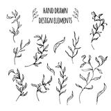 Set of hand drawn design elements. Vector. Illustration for your design Royalty Free Stock Photo