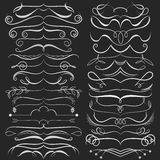 Set of hand drawn doodle design elements on Royalty Free Stock Photography