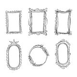Set of hand drawn doodle frames Royalty Free Stock Images