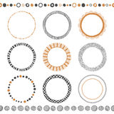 Set of hand drawn doodle frames Stock Photos