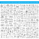 Set of hand drawn doodles on different themes Royalty Free Stock Photo