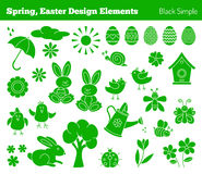 Set of hand drawn Easter design elements Stock Images