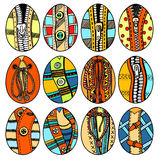 Set of Hand drawn easter eggs Royalty Free Stock Images