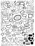 Set of hand drawn elements for design Royalty Free Stock Image