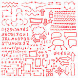 Set of hand drawn elements. Royalty Free Stock Image