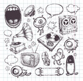 Set of hand drawn elements Royalty Free Stock Images
