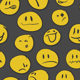 Set of  hand drawn emoticons . Vector eps8 Royalty Free Stock Images