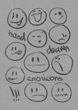 Set of  hand drawn emoticons . Vector eps8 Stock Images