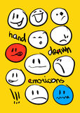 Set of hand drawn emoticons Royalty Free Stock Images