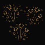 Set of hand drawn fireworks. Illustration eps10 Royalty Free Stock Image