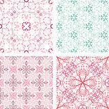 Set of hand drawn floral pattern. Vector set of hand drawn floral pattern background Royalty Free Stock Photo