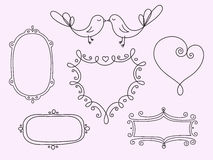 A set of hand-drawn frames for celebration. A set of hand-drawn frames vector illustration