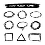 Set of hand drawn frames Royalty Free Stock Photo