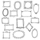 Set of hand drawn frames Royalty Free Stock Images